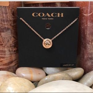 🆕*Coach Open Circle Stone Strand Necklace